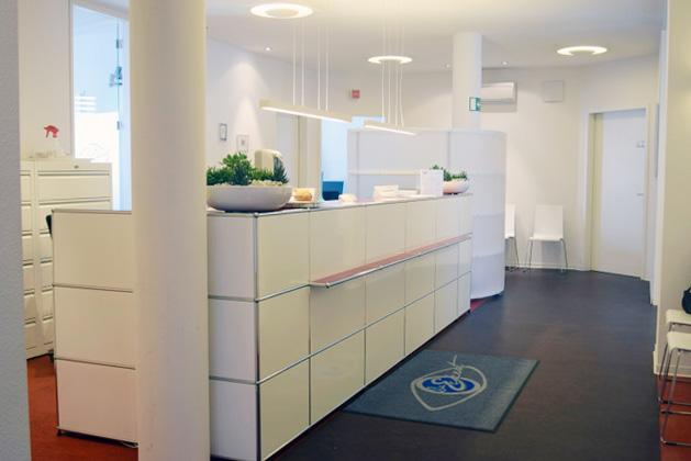 Der Empfang der Praxis vom Augenzentrum Eckert Reutlingen