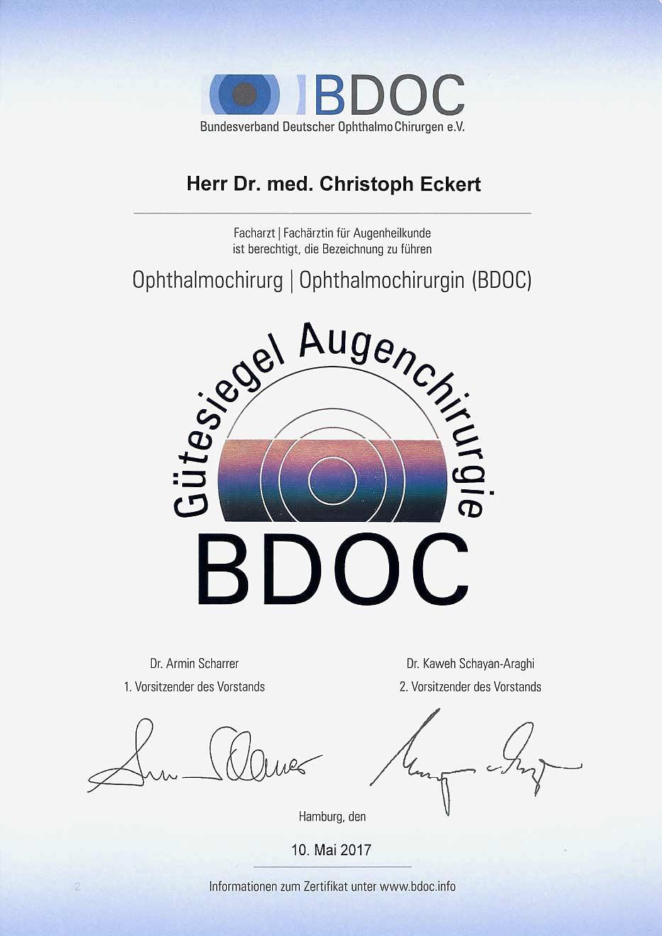 BDOC Gütesiegel Dr. C. Eckert