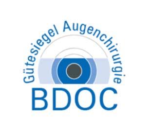Logo Gütesiegel Augenchirurgie BDOC