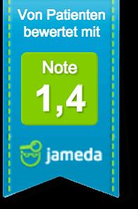 Jameda: von Patienten bewertet mit: Note 1,4
