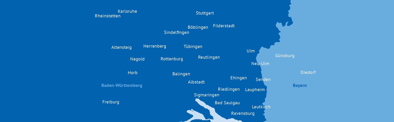 Augenzentrum Eckert: Karte mit Standorten